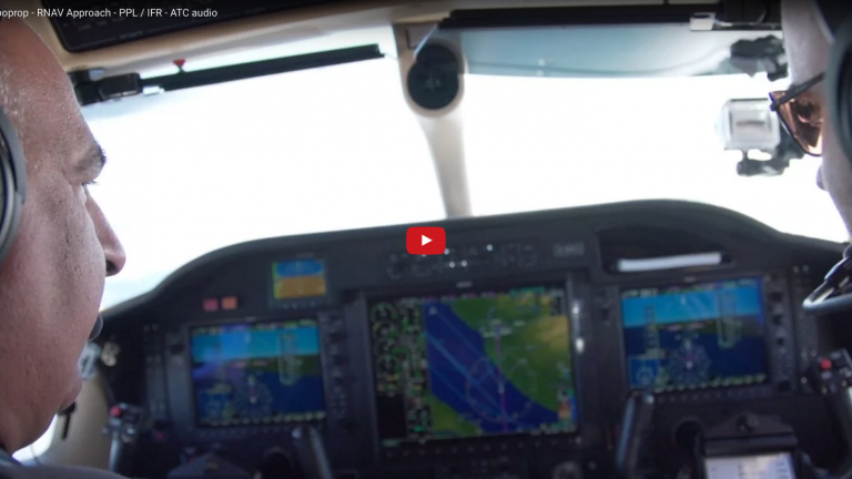 Landing TBM850 Turboprop - RNAV Approach - PPL / IFR - ATC audio