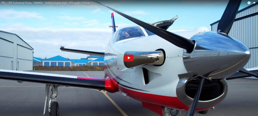 PPL / IFR Turboprop Flying – TBM850 – Turbine engine start – ATC audio + Ferrari :)