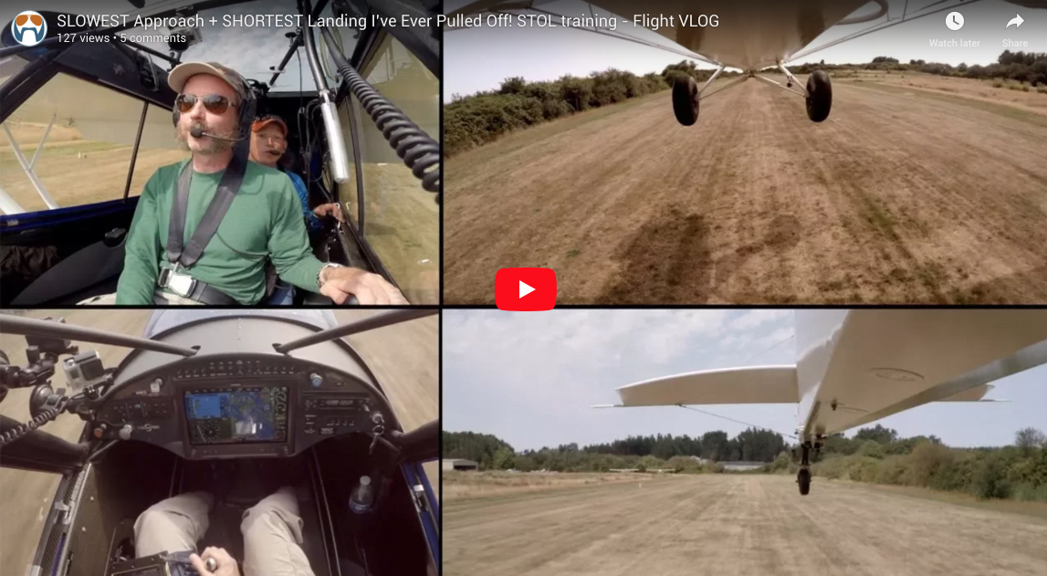 SLOWEST Approach + SHORTEST Landing I've Ever Pulled Off – STOL training – Flight VLOG (+PHOTOS)