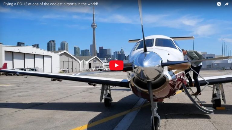 Flying a PC-12 at one of the coolest airports in the world!