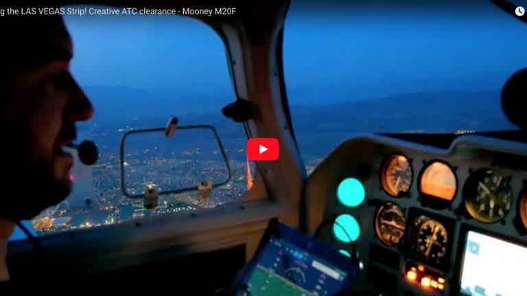 Flying the LAS VEGAS Strip! Creative ATC clearance - Mooney M20F