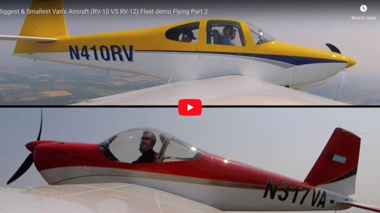 Biggest & Smallest Van's Aircraft (RV-10 VS RV-12) Fleet demo Flying Part 2